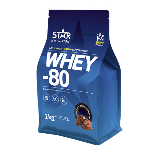 Star Nutrition Whey-80, 1 kg, Double Rich Chocolate