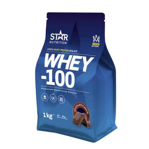 Star Nutrition WHEY-100, 1 kg, Choklad