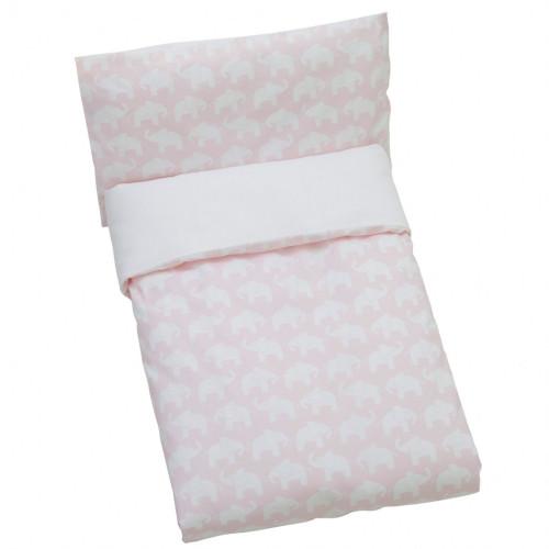 Rätt Start Påslakan Säng Rosa Elefant