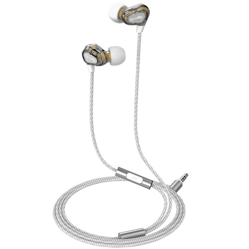 Celly Headset Dual Driver In-ear Vit