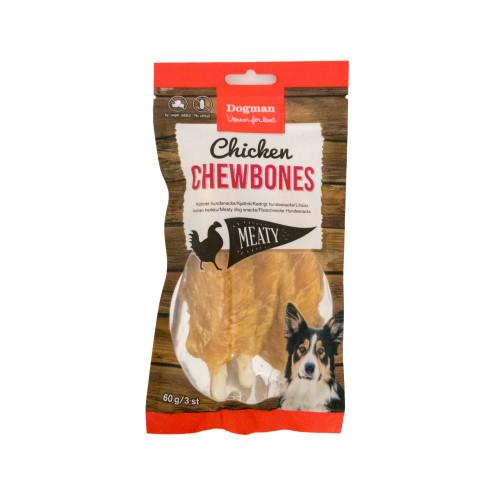 DOGMAN Chicken Chewbones 3 st (7-pack)