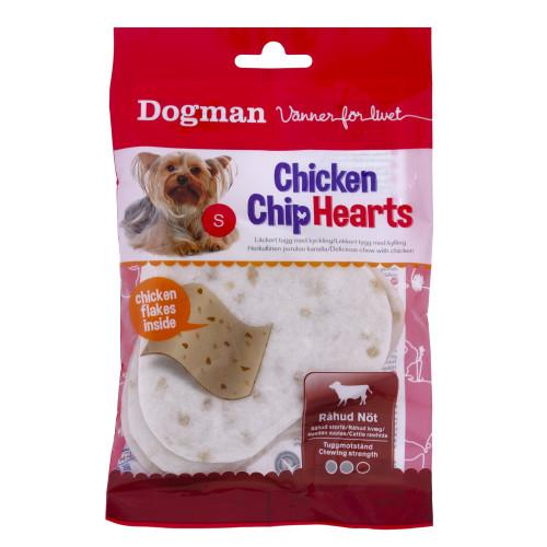 DOGMAN Chicken Chip Hearts 4st (10-pack)
