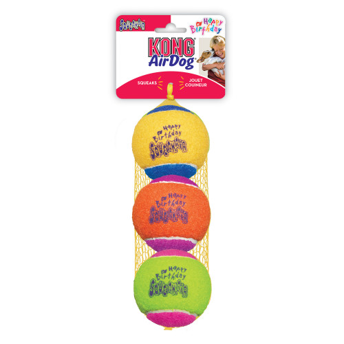 KONG SqueakAir Birthday ball (3-pack)
