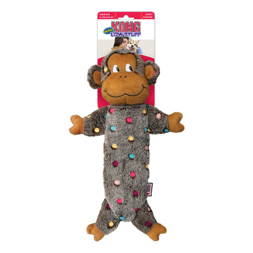 KONG Low Stuff Speckles Monkey (4-pack)