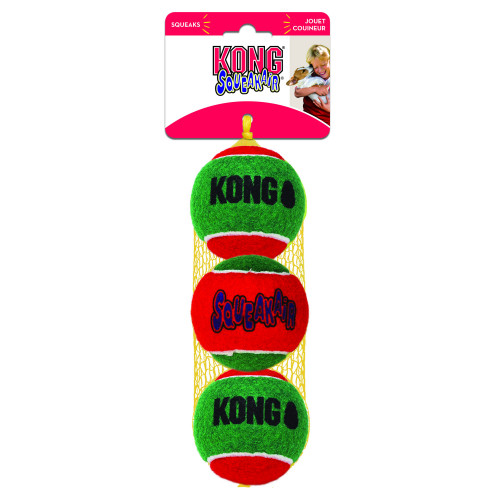 KONG Holiday Squeakair ball 3p (3-pack)