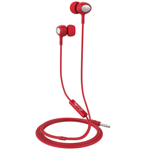 Celly UP500 Stereoheadset In-ear Röd