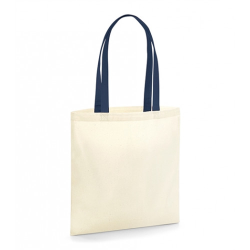 Westford Mill EarthAware TM Organic Bag for Life - Contrast Handles Natural/French Navy