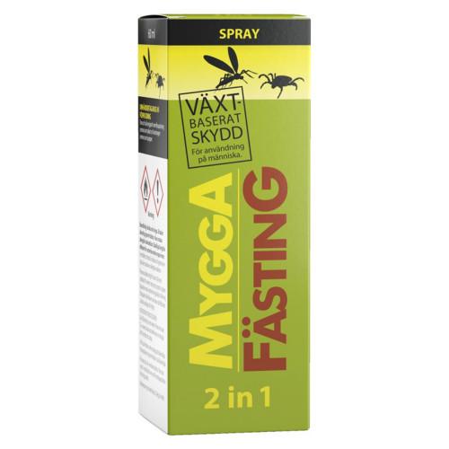 Mygga Fästing 2 in 1 spray