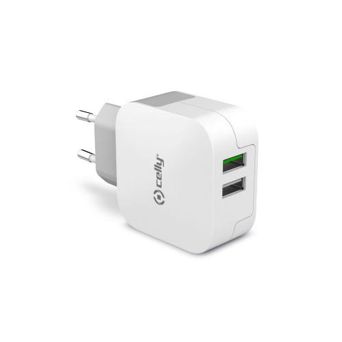 Celly USB-laddare 2xUSB 3,4A (17W)