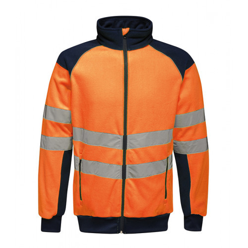 REGATTA Hi-Vis Pro Fleece Jacket Orange/Navy