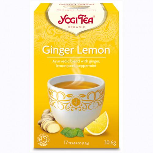 Yogi Tea Ginger Lemon Te 17p KRAV EKO