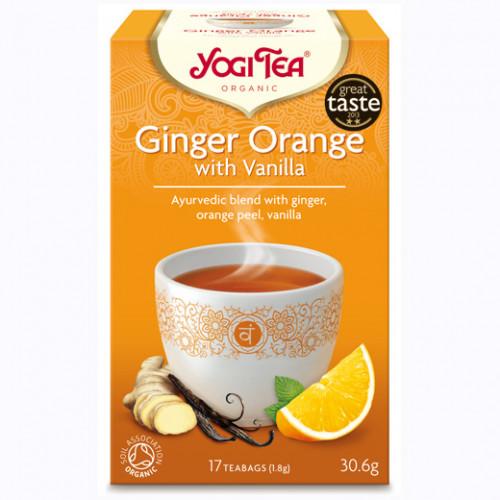Yogi Tea Ginger Orange Te With Vanilla 17p KRAV EKO