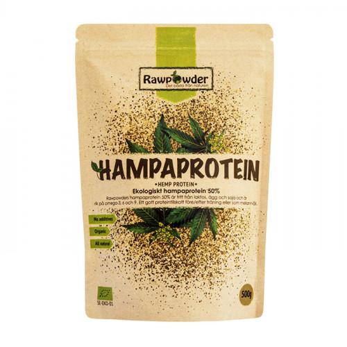 Rawpowder Hampaprotein 50% 500g EKO