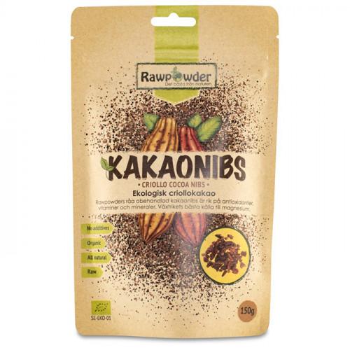 Rawpowder Kakaonibs Criollo 150g EKO