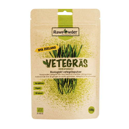 Rawpowder Vetegräs New Zealand 100g EKO