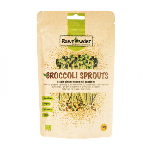 Rawpowder Broccoligroddar Pulver  Sprouted 115g EKO