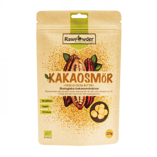 Rawpowder Kakaosmörskivor 225g EKO