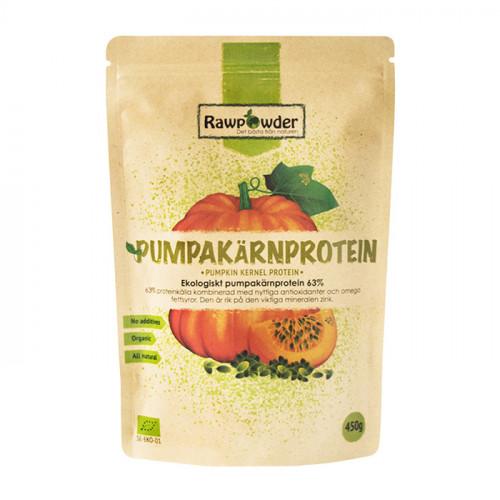 Rawpowder Pumpakärnprotein 63% 450g EKO