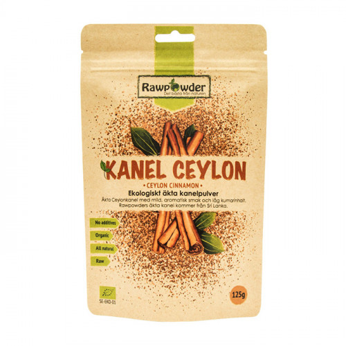 Rawpowder Kanel Ceylon mald 125g EKO