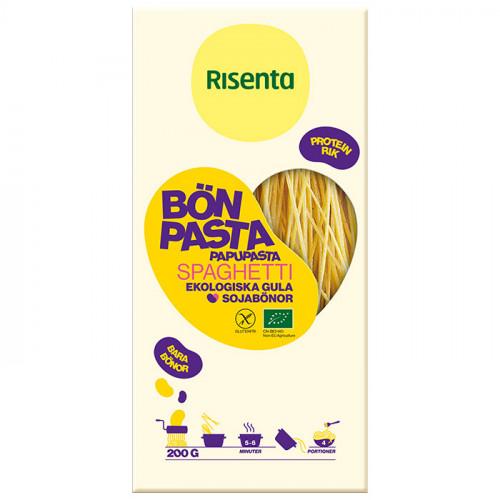 Risenta Bönpasta Spaghetti Gula Sojabönor 200g EKO