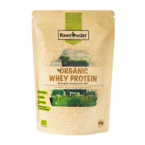 Rawpowder Organic Whey Protein 80% 400g EKO (vassle)