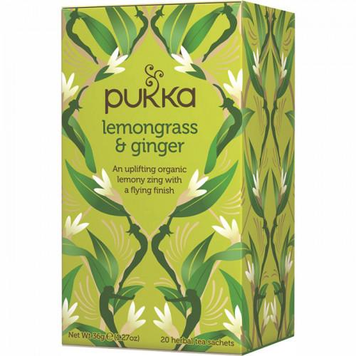 Pukka Lemongrass & Ginger Te 20 Påsar EKO
