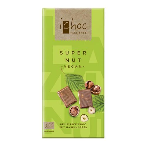 Ichoc Rischoklad Super Nut 80g EKO