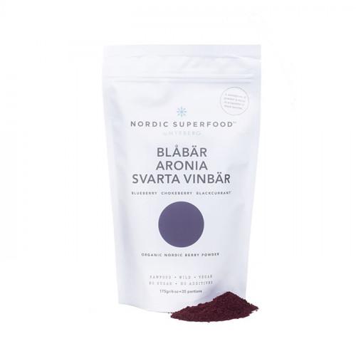 Nordic Superfood by Myrberg Blåbär Aronia Svarta vinbär 175g