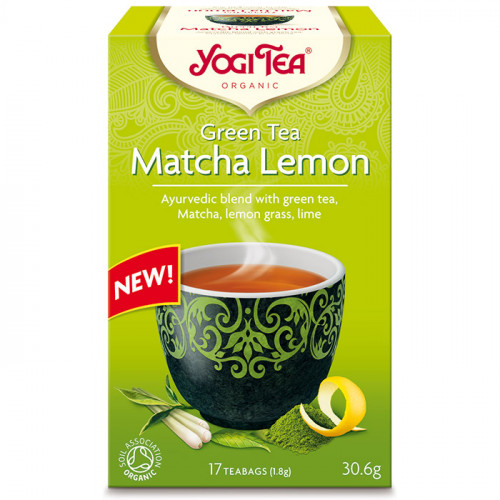 Yogi Tea Green tea Matcha 17p KRAV EKO
