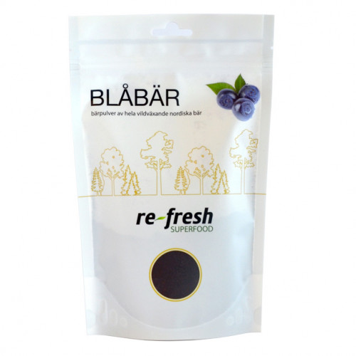 Re-fresh Superfood Blåbärspulver 125g