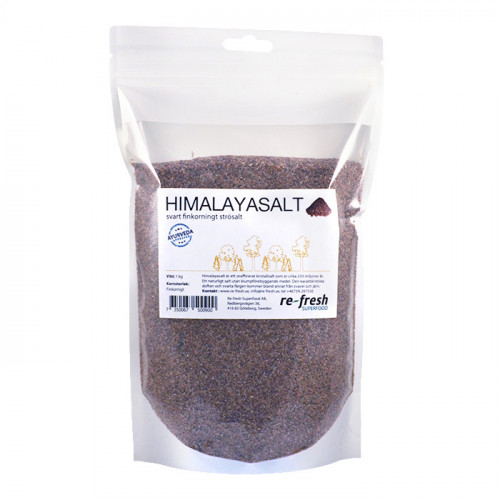 Re-fresh Superfood Himalayasalt svart Fint 1kg