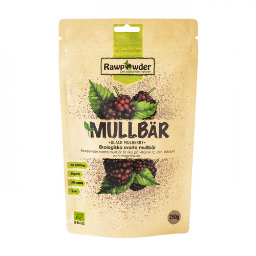 Rawpowder Mullbär Svarta 250g EKO