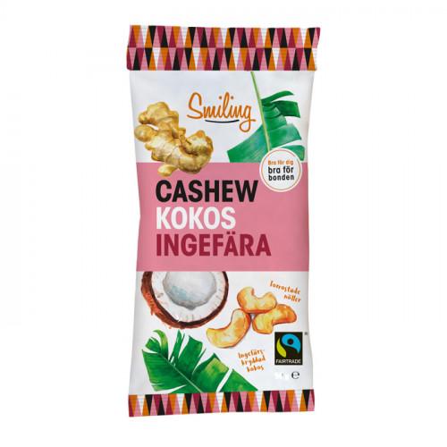 Smiling Smiling Cashew Kokos-Ingefära 50g