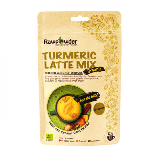 Rawpowder Turmeric Latte Mix Kardemumma 125g EKO