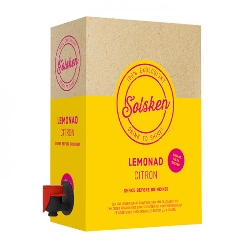 Solsken Solsken Ekologisk Lemonad Citron 3l BiB