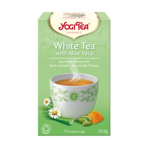 Yogi Tea White Tea with Aloe Vera 17p KRAV EKO