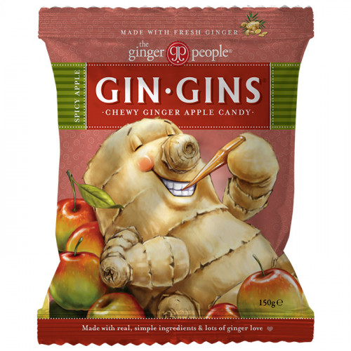 Ginger People Gin Gins Spicy Apple Chewy Ginger Candy 150g
