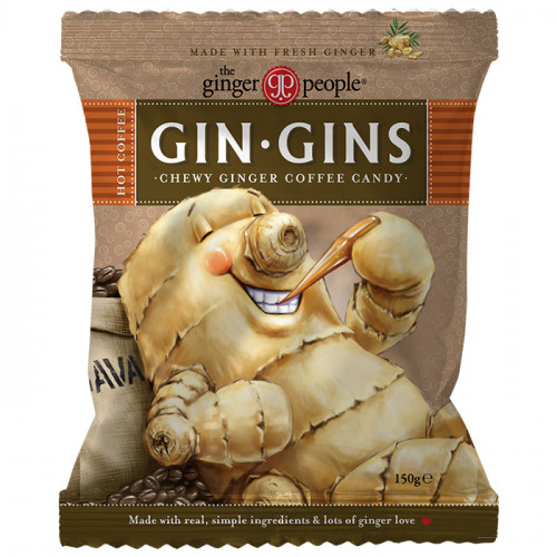 Ginger People Gin Gins Hot Coffee Chewy Ginger Candy 150g