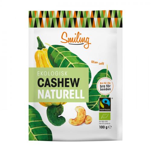 Smiling Smiling Cashew Naturell 100g EKO