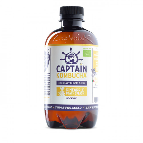 Captain Kombucha C. Kombucha Pineapple Peach 400 ml EKO