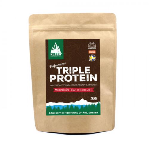 Kleen Sports Nutrition KLEEN Triple Protein Powder  Mountain Peak Chocolate 750g