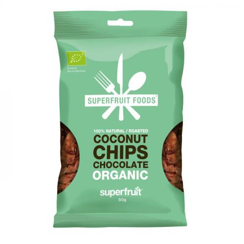 Superfruit Foods Kokoschips Choklad  50g EU EKO