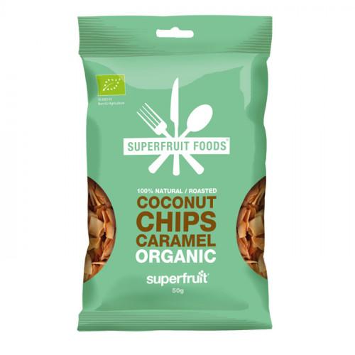 Superfruit Foods Kokoschips Karamel  50g EU EKO
