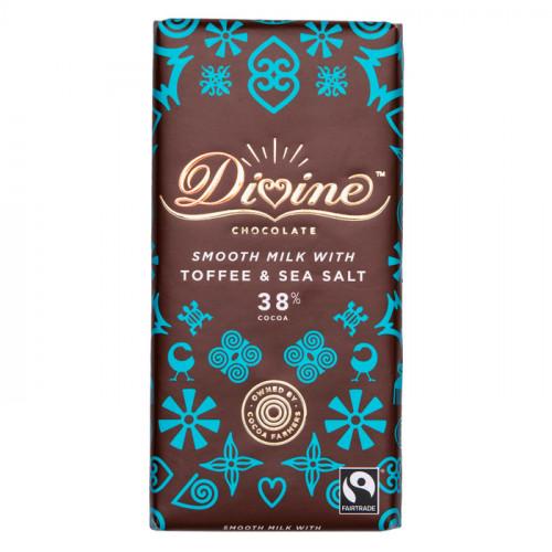 Divine Chocolate Divine Mjölkchoklad  Toffee & Havssalt 90g