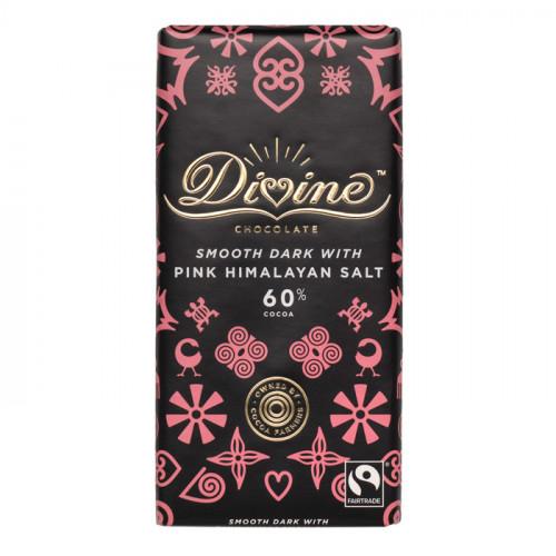 Divine Chocolate Divine Mörk Choklad 60% Bergsalt 90g