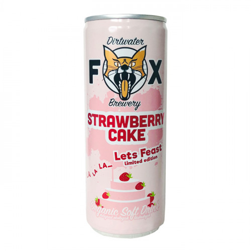 Dirtwater Fox Brewery Fox Strawberry Cake 250 ml