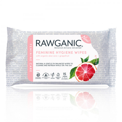 Rawganic Femenine Wipes 15 wipes Organic