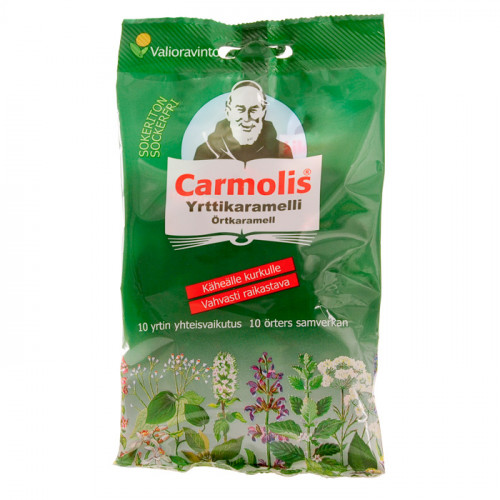 Carmolis Carmolis Örtkaramell Sockerfri 72 g