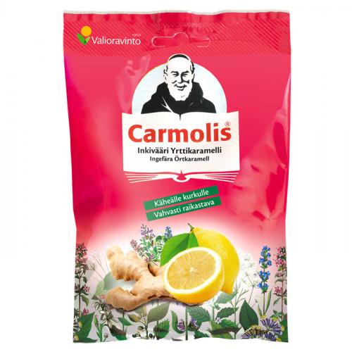 Carmolis Carmolis Örtkaramell Ingefära & Citron 72 g
