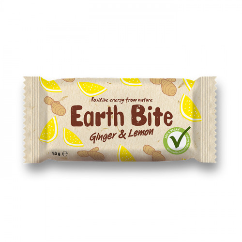 Earth Bite Earth Bite Ginger & Lemon 50g EKO